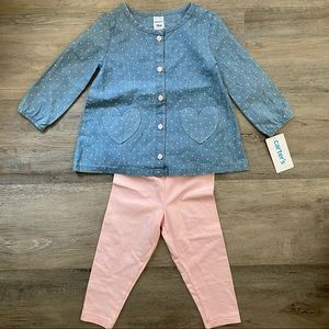 Carter's   NWT Heart Outfit